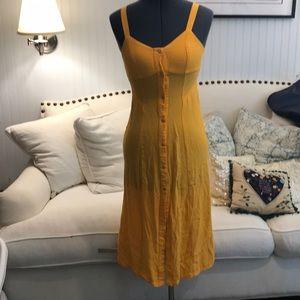 Yellow top show button down dress